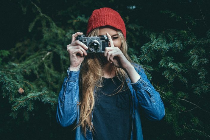 a girl with the camera